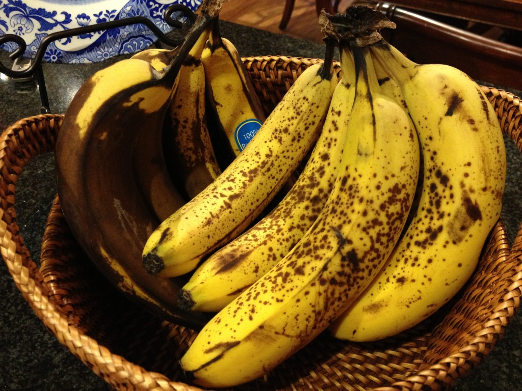 Think these bananas are destined for the trash? Not in TSB's kitchen!
